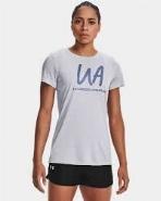 "Women's UA Techâ""¢ Twist Graphic Short Sleeve, Mod Gray,"