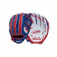 "A200 Baseball 10"" Red/White/Royal, Red-White-Royal, 10"