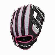 "A200 Baseball 10"" ""Girl"", White-Pink-Black, 10"
