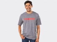 T-shirt Trek, Grey/Radioactive Red