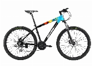 GRAFFITI, 26''Alloy- Lock Suspension-MICROSHIFT Drive Train -Mech, BLACK / COLOR SPLASH 15 POUCES