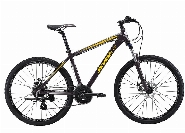CLOUD 530  , 26''Alloy- Lock Suspension-MICROSHIFT Drive Train -Mech, BLACK / YELLOW 15 POUCES