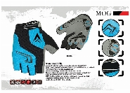 GLOVE MOG  4 WAY MATERIALSynthetic leather PALM, BREATHABLE - COLORl BLUE